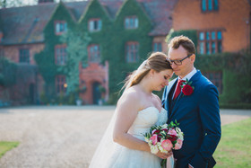 Bride and groom couple photography at Woodhall Manor