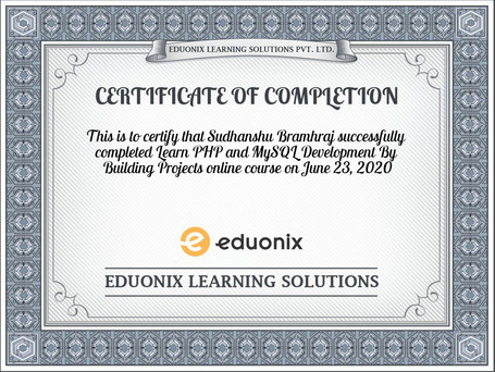 certificate-Learn-PHP-and-MySQL-Developm