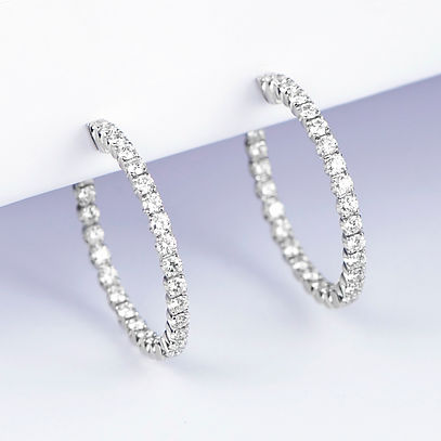 David Lawes Jewellery Ltd Diamond Hoop Earrings Traditional Hand Crafted Jewellery hatton garden london