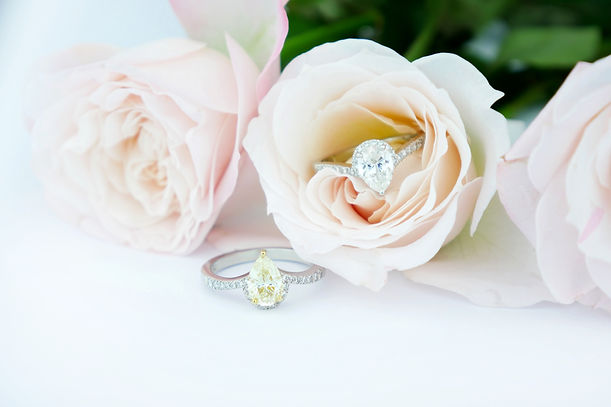David Lawes Jewellery Ltd Diamond pair pare pear shape yellow engagement halo wedding rings Traditional Hand Crafted hatton garden london