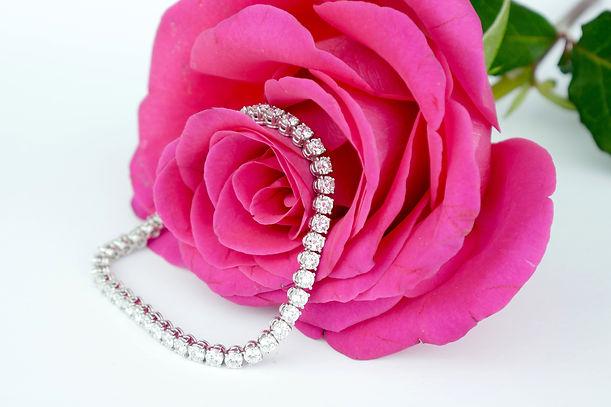 David Lawes Jewellery Ltd Diamond Tennis line Bracelet Traditional Hand Crafted hatton garden london