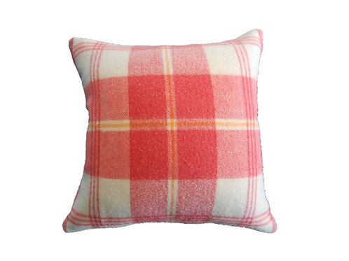 Wool Collection - Watermelon & Cream Pillow