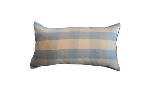 Wool Collection - Blue Check Pillow