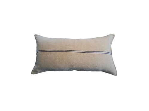 Grain Sack Collection - Long Blue Stripe Pillow