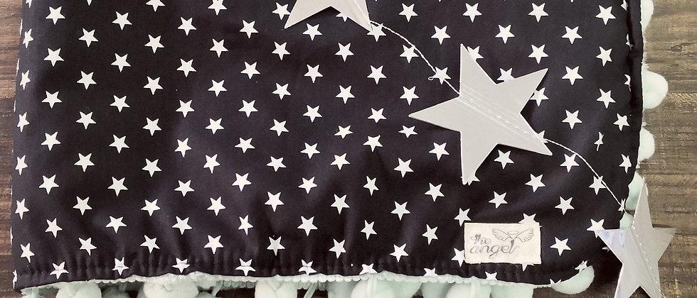 Black Stars with pompom