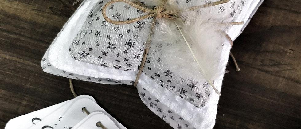 Aromatic Pillows Glitter Stars Grey