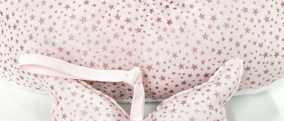 Little Lucky Wings Glitter Stars Pink