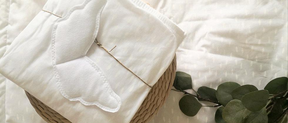 Pure White Bath Cape