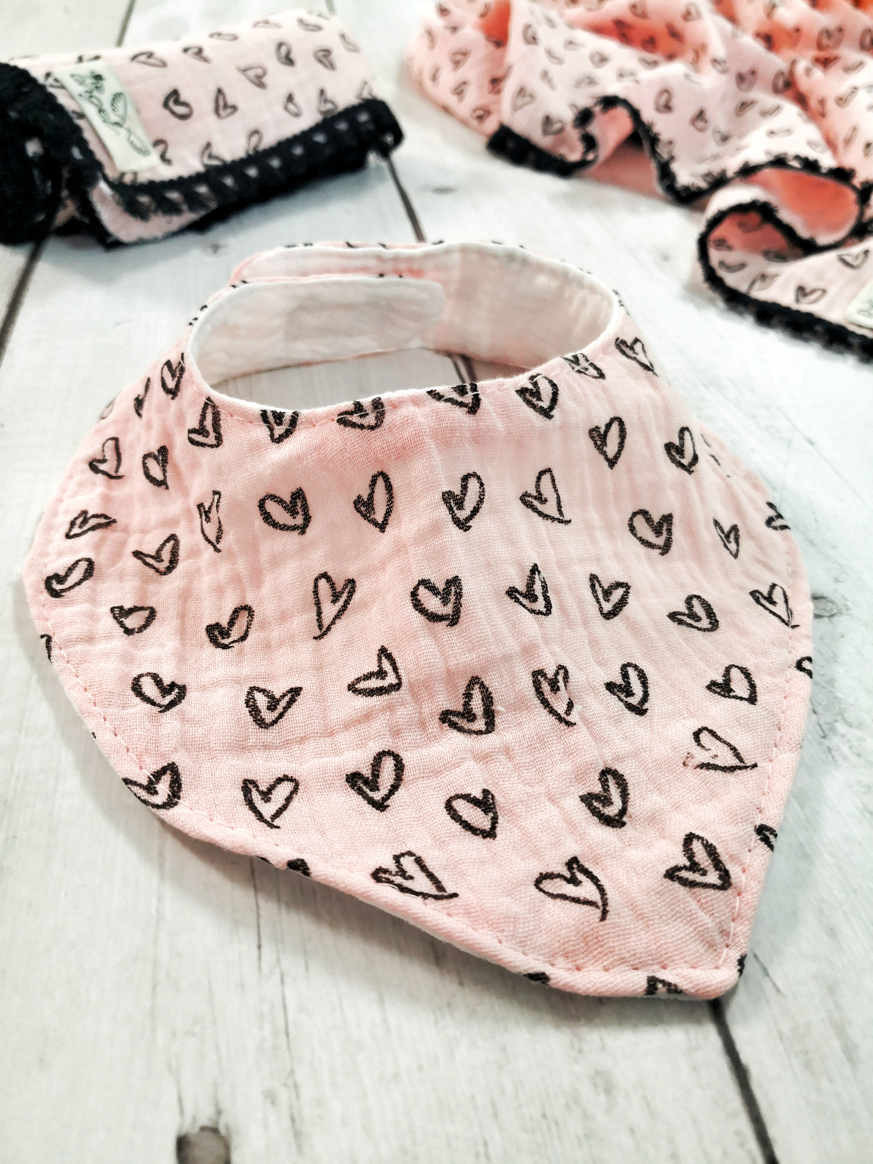 Thumbnail: Black Hearts Bibs