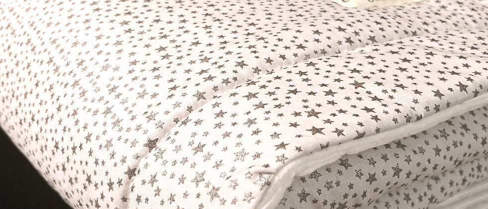 Glitter Stars Grey επενδυμένη χειμερινή κουβερτούλα