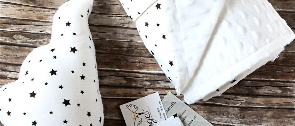 Angel Wings White Stars