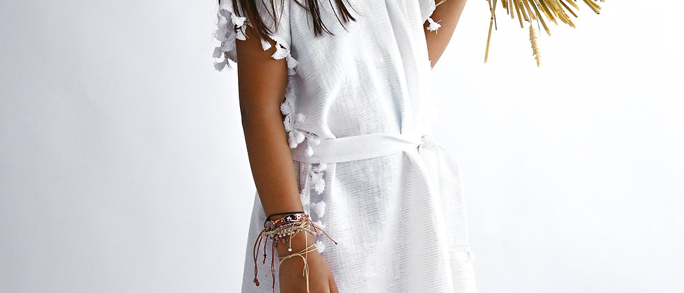 White & Silver Tunic