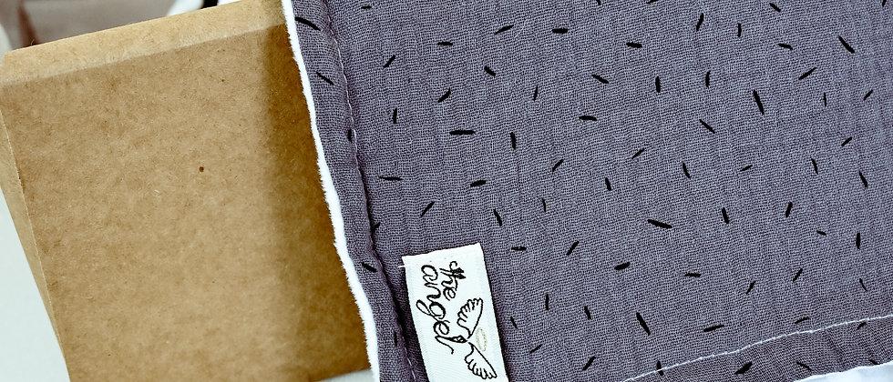 Grey κουβερτούλα με βαμβακερή μουσελίνα