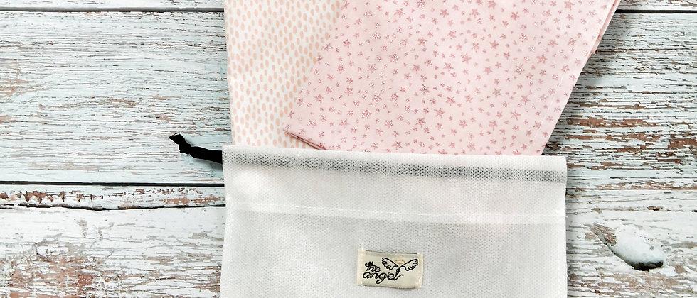 Glitter Stars/Pink Drops mini set sheets