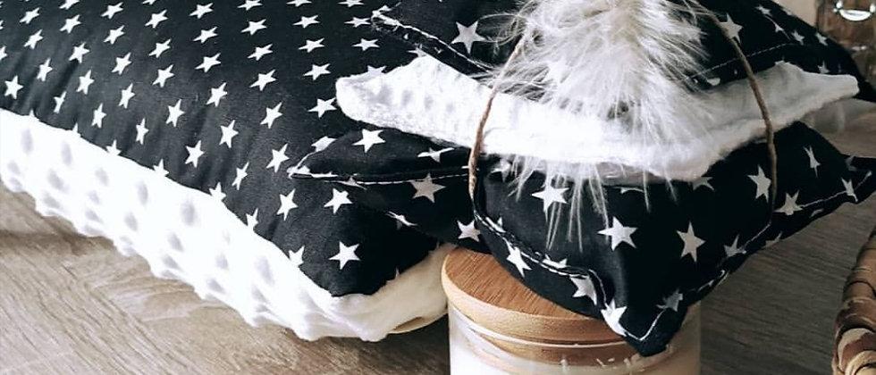 Black Stars with White