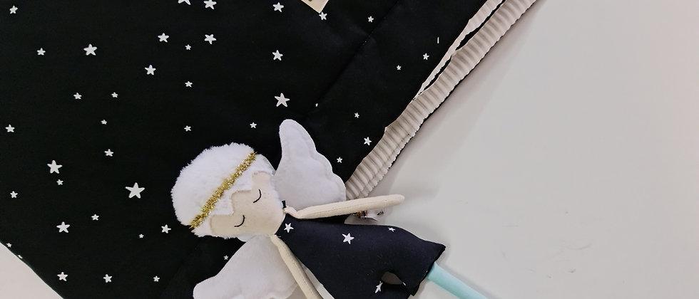 Black Stars χειμερινή επενδεδυμενη κουβερτούλα