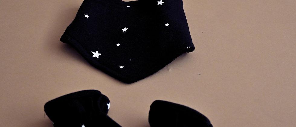 Newborn Set Black Stars