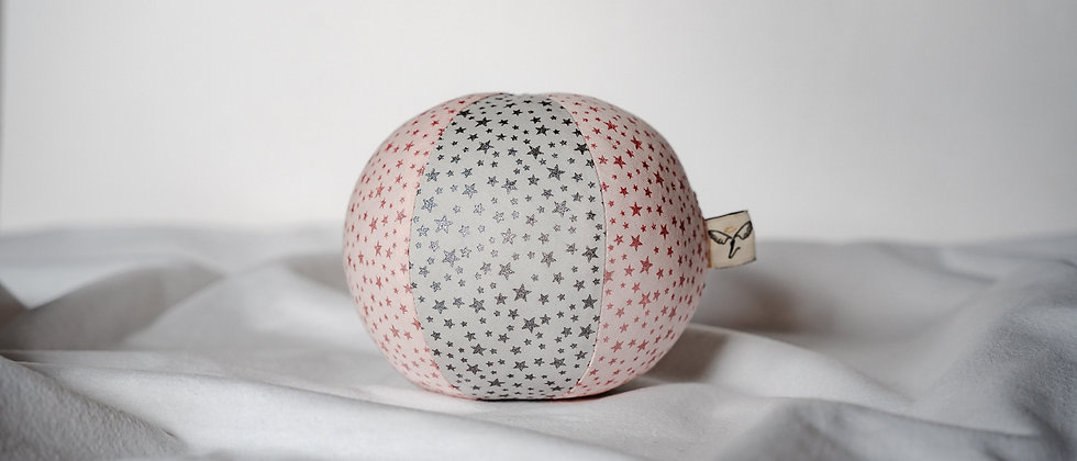 Glitter Stars Cotton Rattle Ball
