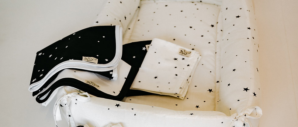 Baby Nest White Stars