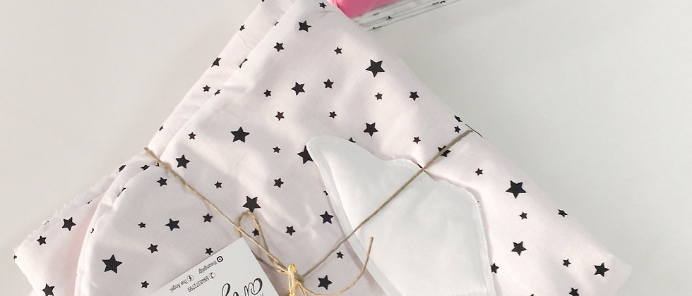 White Stars with Pink