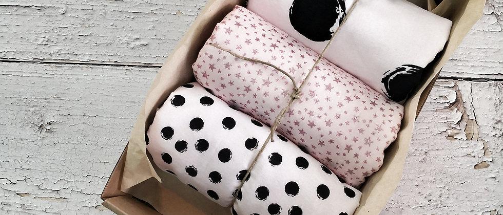 Dots Pink - small towels Set