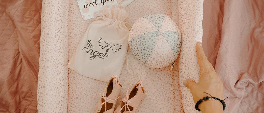 Glitter Stars Pink Baby Nest