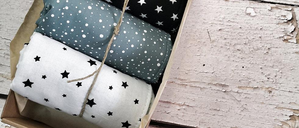 Galaxy Stars - small towels set