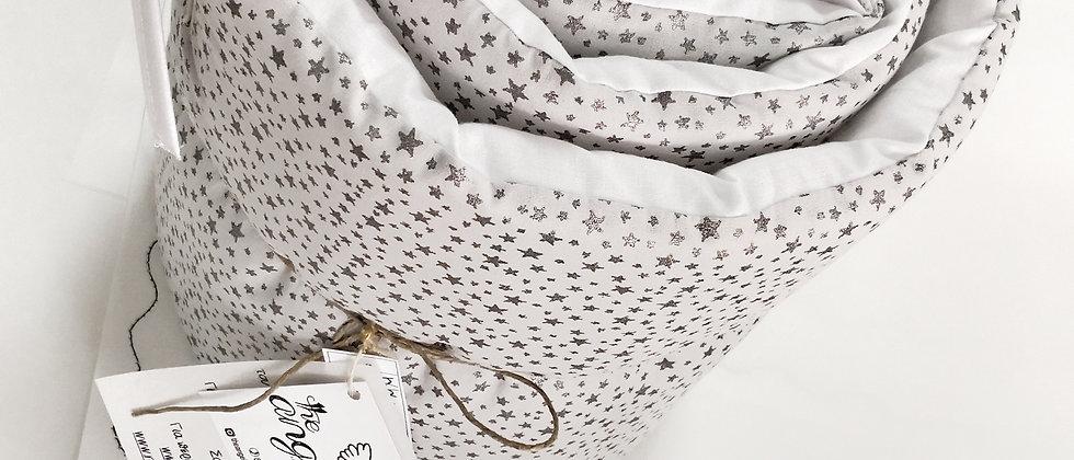 Glitter Stars Grey