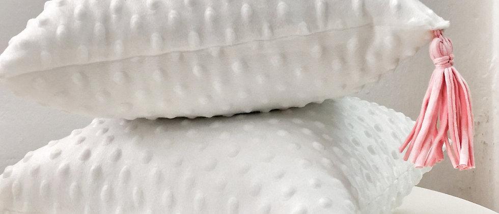 White minky velvet touch