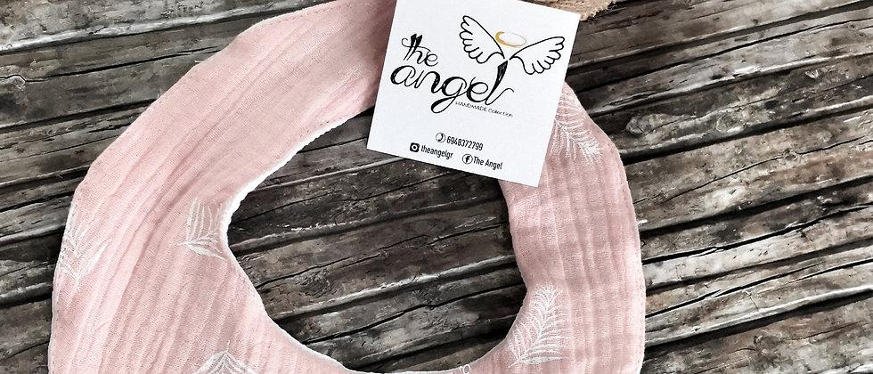 Pink Feathers Bandana Bibs