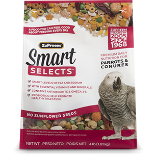 Smart Selects Parrots & Conures 4lbs