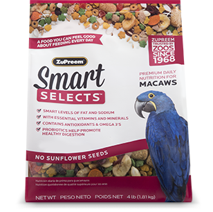 Smart Selects Macaws 4lbs