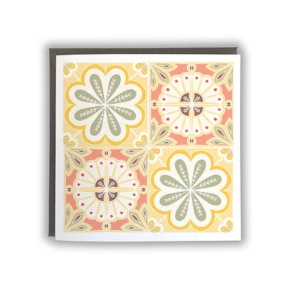 Moroccan Tile Design Card