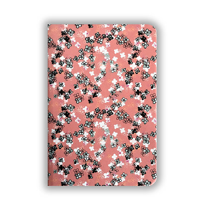 Coral Ditsy Floral Notebook