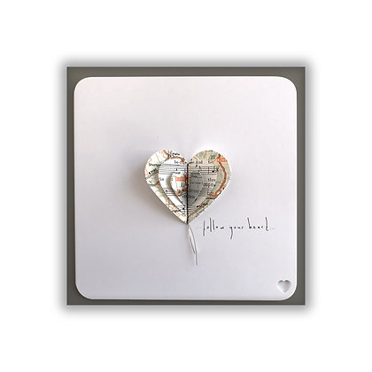 3D Map Heart Card