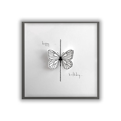 White 3D Butterfly