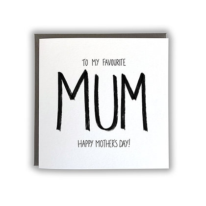 Favourite Mum - Mother's Day