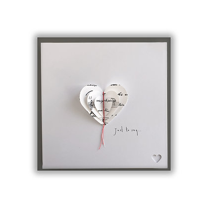 3D Music Heart Card