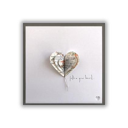 3D Map Heart Card