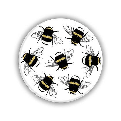 Bumble Bee Small Pocket Mirror