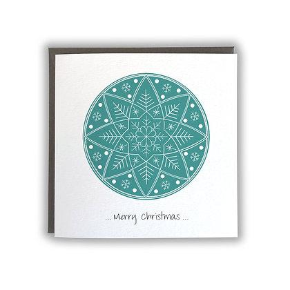 Snowflake Mandala Card