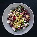 Warm Black Rice and Almond Salad