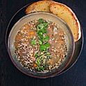 Smoked Ham Hock and Lentil Soup