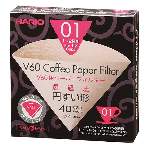 Hario V60 Filters 1-2 Cups