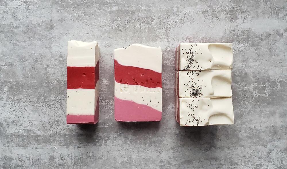 Strawberry cold process soap