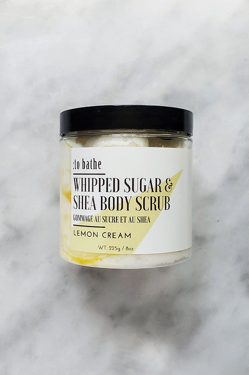 Lemon Cream Whipped Sugar & Shea Scrub- 8oz