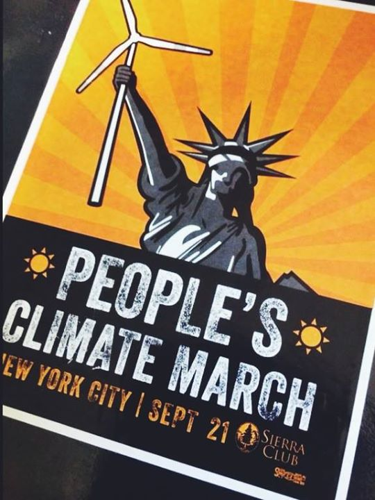 Facebook - We are so excited to attend and be a part of the People's Climate Mar