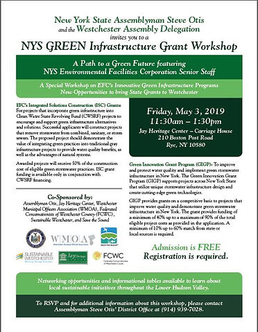 NYS Green Infrastructure Grant Workshop.