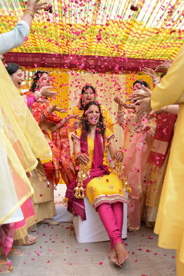 Flower Shower Haldi Ceremony