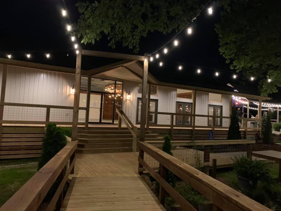 Rustic Creek Building (Night)